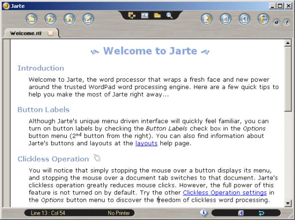 Jarte Word Processor Review « Refolder